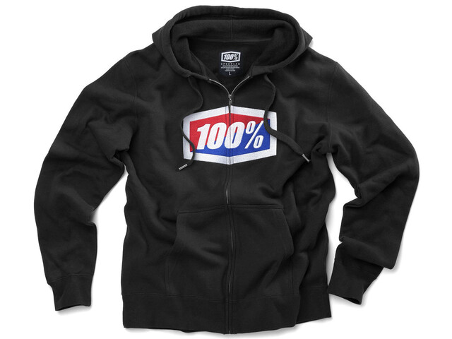 100% Official Full-Zip Hoody Men black